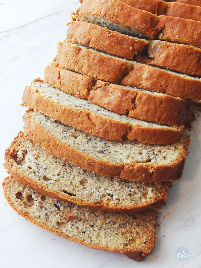 Delicous Banana Bread. Dairy and soy free.