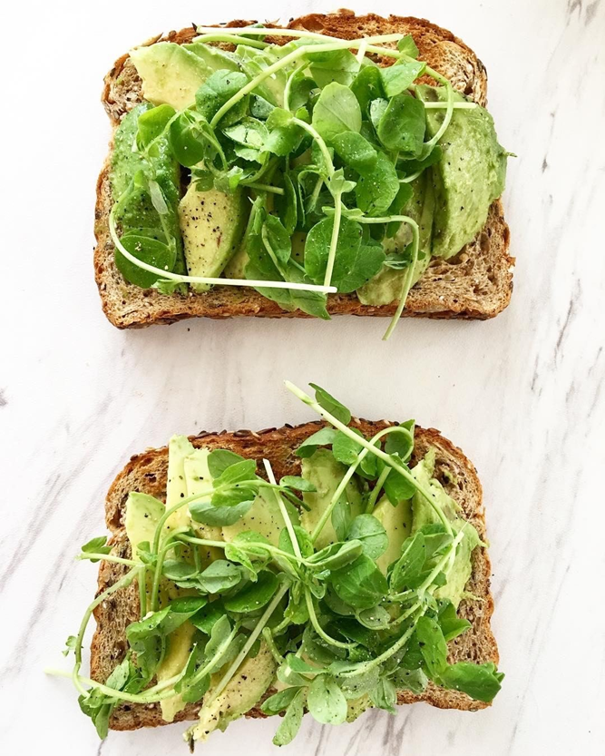 Morning Avocado Sprout Toast